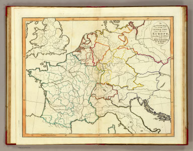 Outline Europe. / Gaultier, abbe (Aloisius Edouard Camille), 1746?-1818; Wauthier, J. M. / 1821