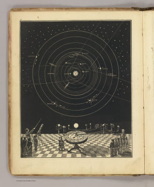 (Orrery, with a view of the Solar System in the back ground. By Asa Smith. New York: Cady & Burgess, 60 John Street. 1850)