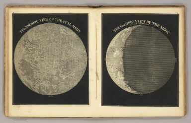 Telescopic view of the full Moon. Telescopic view of the Moon past the last quadrature. (By Asa Smith. New York: Cady & Burgess, 60 John Street. 1850)