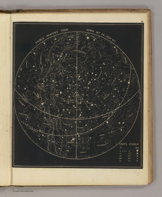 Visible heavens from April 18th to July 21st. (By Asa Smith. New York: Cady & Burgess, 60 John Street. 1850)