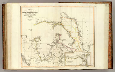 A chart of the discoveries of Captains Ross, Parry & Franklin in the Arctic Regions in the years 1818, 1819, 1820, 1821 & 1822. (with) Capt. Franklin's journey from Coppermine River to the head of Bathurst Inlet & return by Hood's River. J. Aspin delt. Hewitt sc., Buckingham Place. (Drawn & engraved for Thomson's New general atlas) (1822?)