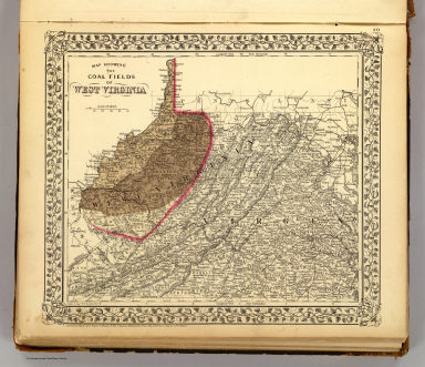 Map showing the coal fields of West Virginia. Drawn & eng. by W.H. Gamble, Phila. Entered according to Act of Congress in the year 1872 by S. Augustus Mitchell in the Office of the Librarian of Congress at Washington. (1873)