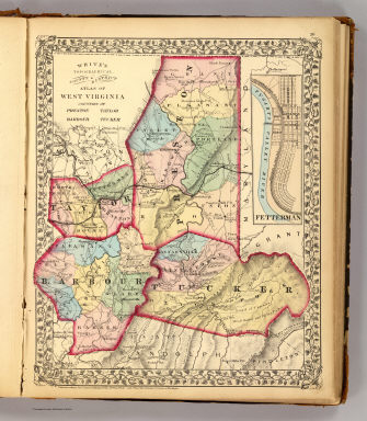 Preston, Taylor, Barbour, Tucker counties. / White, M. Wood / 1873