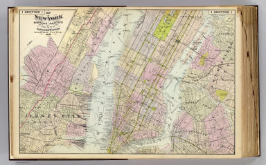 Map of New-York, Brooklyn, Jersey City &c. Published by Gaylord Watson, 278 Pearl Street, New York. 1891.