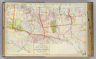 Plan of Irvington, Dobbs Ferry and surroundings. Copyrighted, 1891, by Watson & Co.
