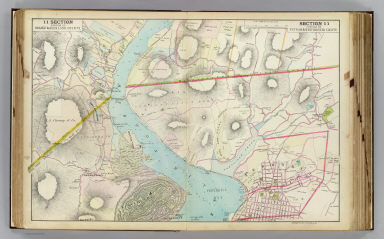 Portion of Orange & Rockland county. Portion of Putnam & Westchester County. Copyrighted, 1891, by Watson & Co.