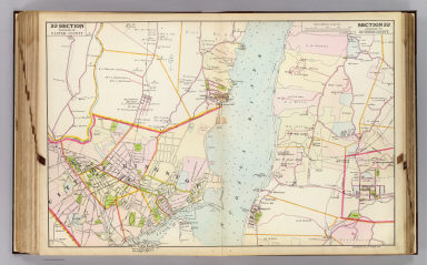Portion of Ulster County. Portion of Dutchess County. Copyrighted, 1891, by Watson & Co.