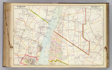 Portion of Greene & Ulster County. Portion of Columbia & Dutchess County. Copyrighted, 1891, by Watson & Co.
