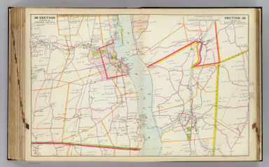 Portion of Greene County. Portion of Columbia County. Copyrighted, 1891, by Watson & Co.