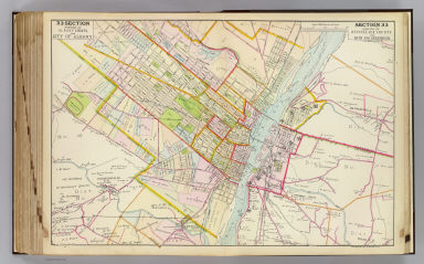 Portion of Albany County and city of Albany. Portion of Rensselaer County and Bath and Greenbush. Copyrighted, 1891, by Watson & Co.