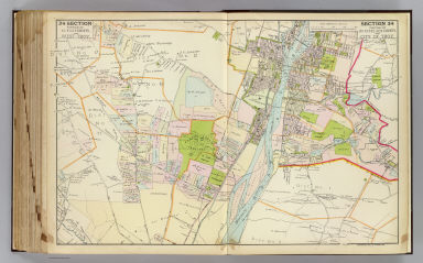 Portion of Albany County and West Troy. Portion of Rensselaer County and city of Troy. Copyrighted, 1891, by Watson & Co.