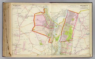 Portion of Albany County and city of Cohoes. Portion of Rensselaer County and cities of Lansingburgh & Troy. Copyrighted, 1891, by Watson & Co.