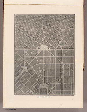 Plan of Civic Center. (By Daniel H. Burnham. Assisted by Edward H. Bennett. 1905)