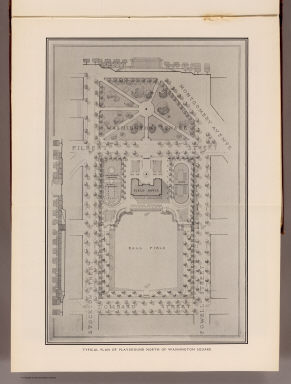 Typical plan of playground north of Washington Square. (By Daniel H. Burnham. Assisted by Edward H. Bennett. 1905)