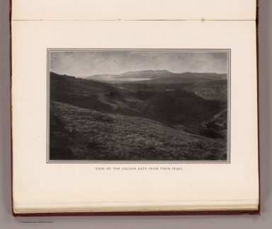 View of the Golden Gate from Twin Peaks. (By Daniel H. Burnham. Assisted by Edward H. Bennett. 1905)