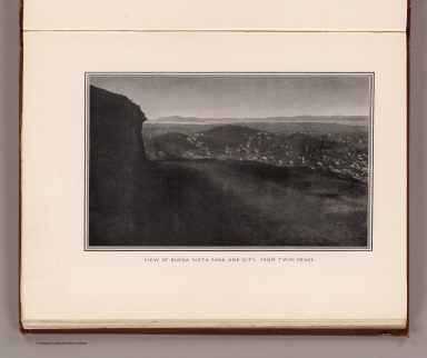 View of Buena Vista Park and City, from Twin Peaks. (By Daniel H. Burnham. Assisted by Edward H. Bennett. 1905)