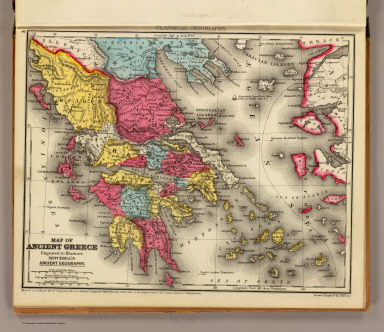 Map of ancient Greece. Engraved to illustrate Mitchell's ancient geography. Drawn & engraved by J.H. Young. Entered ... 1844, by S. Augustus Mitchell ... Eastern District of Pennsylvania. (1875)