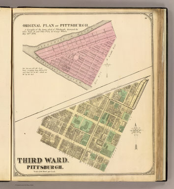 Ward 3; 1784 map. / (G.M. Hopkins & Co.); Woods, George / 1872