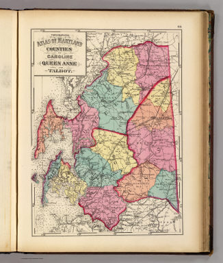 Topographical atlas of Maryland: counties of Caroline, Queen Anne ...