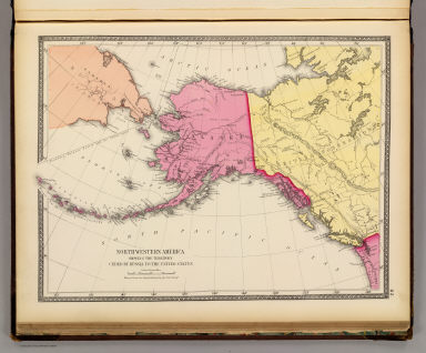 North western America showing the territory ceded by Russia to the United States. / United States Coast Survey / 1873