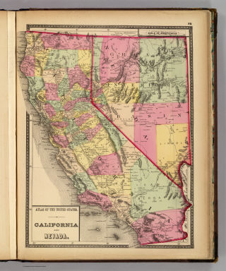 Atlas of the United States. California and Nevada. (by H.H. Lloyd. Published by Stedman, Brown & Lyon, Baltimore. 1873)