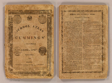 Cover: School atlas to Cummings' ancient & modern geography. / Cummings, J. A. (Jacob Abbot) / 1821