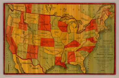 Norris' Cyclopaedic Map Of The United States Of America. / Norris, W.R. / 1885
