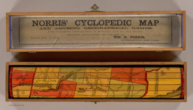 Cover: Norris' United States of America cyclopaedic map. / Norris, W.R. / 1885