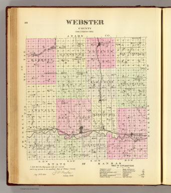 Webster County. / Everts & Kirk / 1885