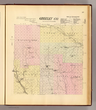 Greeley Co. / Everts & Kirk / 1885