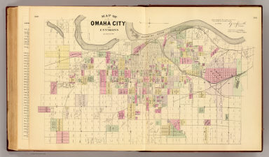 Omaha City & environs. / Mann, Adin, 1816-1903; Smith, George M.; L.H. Everts & Co. / 1885