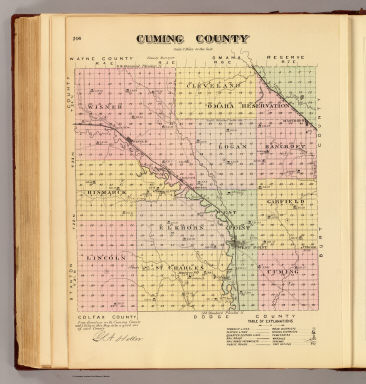 Cuming County. / Everts & Co. / 1885