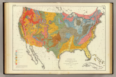 Geological map US. / Hitchcock, Charles H.; Blake, William P. (William Phipps), 1826-1910; United States. Census Office / 1874