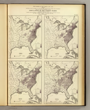 Population United States Census Office Walker - Map of us in 1820