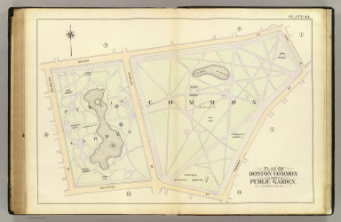 44 boston common public garden bromley george washington bromley walter scott 1895 Boston public garden map