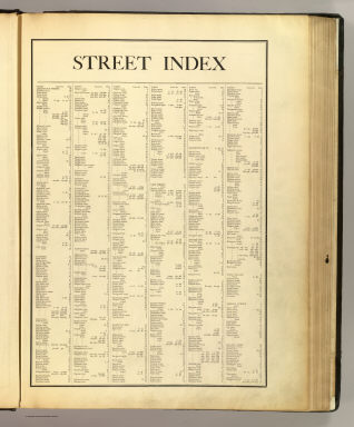 (Index to) Atlas of the city of Boston, Boston proper and Roxbury. From actual surveys and official plans by George W. and Walter S. Bromley, civil engineers. G.W. Bromley and Co., 222 S. Fifth St., Philadelphia. 1895. Entered according to Act of Congress in 1895 by G.W. Bromley & Co. in the office of the Librarian of Congress at Washington, D.C.