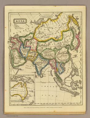 Asia. (with) Australasia. Entered ... 1821 by William C. Woodbridge of the state of Connecticut. (1824?)