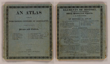 Cover: Atlas accompanying Worcester's Epitome of geography. / Worcester, Joseph E. / 1826