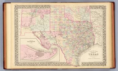 Map Of Texas 1880.Texas Mitchell Samuel Augustus 1880