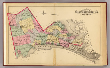 Outline map Westchester Co., N.Y. / (G.W. Bromley & Co.; Bromley, George Washington; Bromley, Walter Scott) / 1881