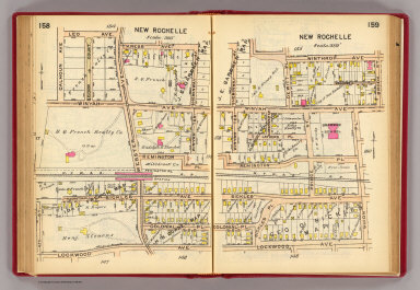 158-159 New Rochelle. / (G.W. Bromley & Co.) / 1914