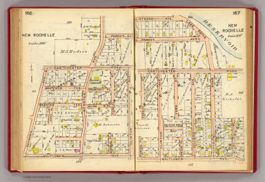 166-167 New Rochelle. / (G.W. Bromley & Co.) / 1914