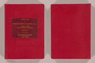 Cover: Atlas of Westchester Co., N.Y. / G.W. Bromley & Co. / 1914