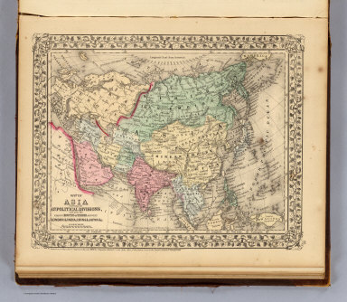 Map of Asia showing its gt. political divisions, and also the various routes of travel between London & India, China & Japan &c. Constructed & engraved by W. Williams, Phila. Entered ... 1870 by S. Augustus Mitchell, Jr. ... Pennsylvania.
