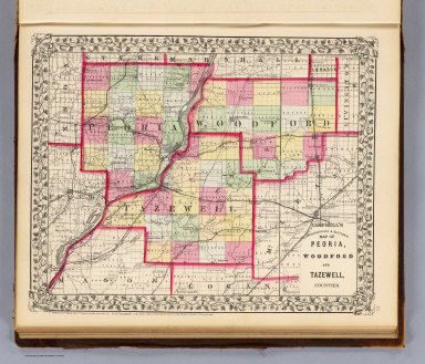Peoria, Woodford, Tazewell counties. / Campbell, R.A.; (Walling, H.F.) / 1870