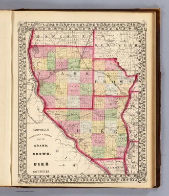 Adams, Brown, Pike counties. / Campbell, R.A.; (Walling, H.F.) / 1870