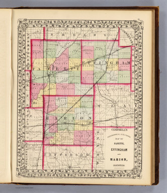 Fayette, Effingham, Marion, counties. / Campbell, R.A.; (Walling, H.F.) / 1870