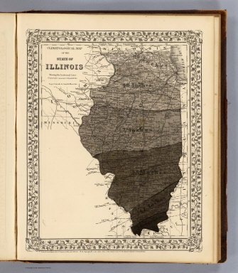Climatological map, Illinois. / Campbell, R.A.; (Walling, H.F.) / 1870