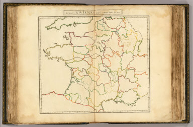 Grandes rivieres (France - outline) / (Dangeau, abbe de, 1643-1723) / 1693