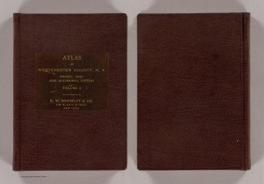 Cover: Atlas of Westchester Co., N.Y. v. 2. / G.W. Bromley & Co. / 1914